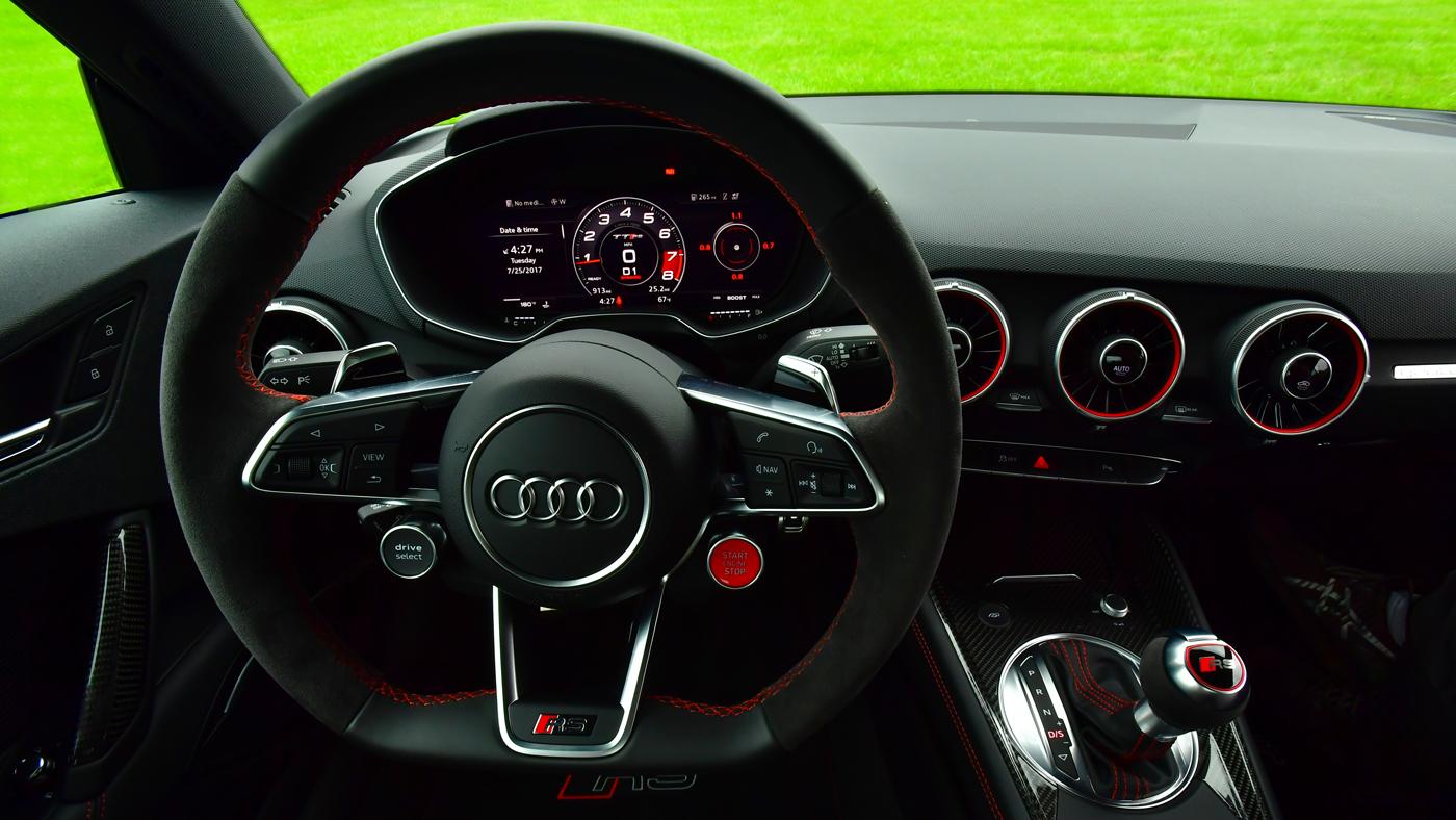 Inside the Audi TT RS.