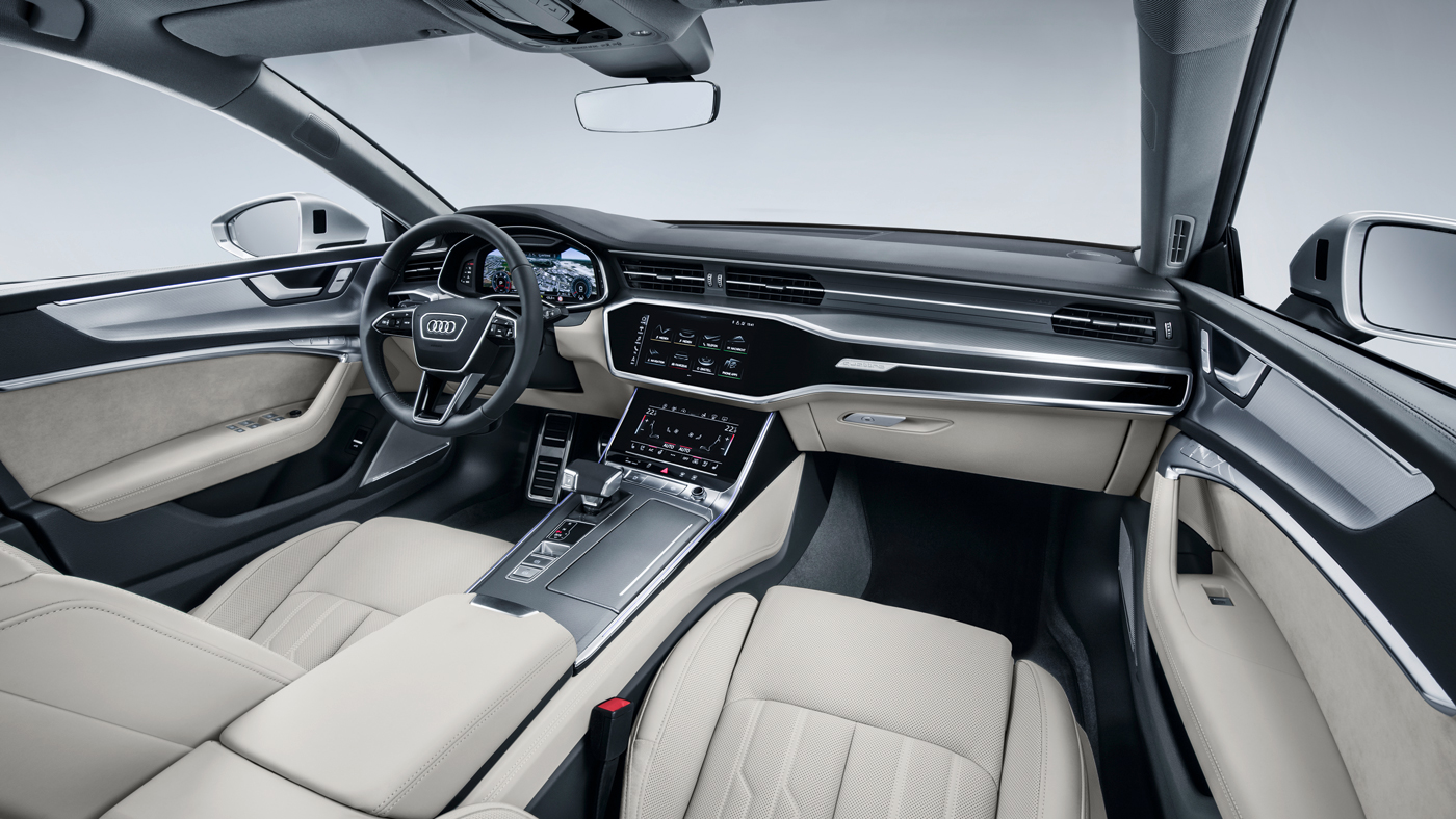 The interior of the Audi A7 Sportback.