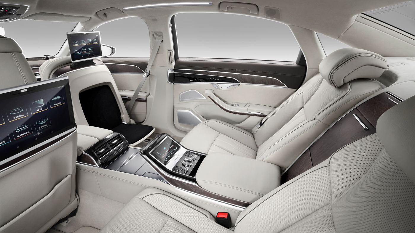 The interior of the 2019 Audi A8L.