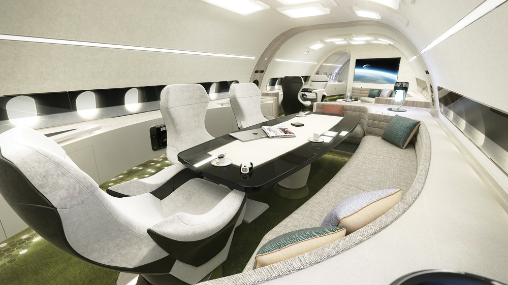 Melody cabin concept from Airbus design studio