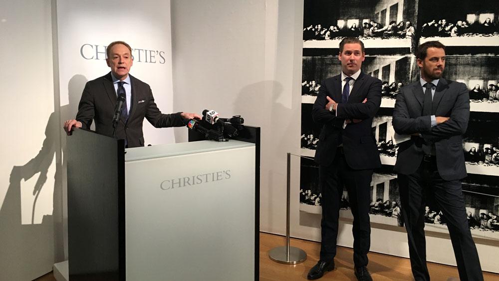 Alan Wintermute speaks at Christie's