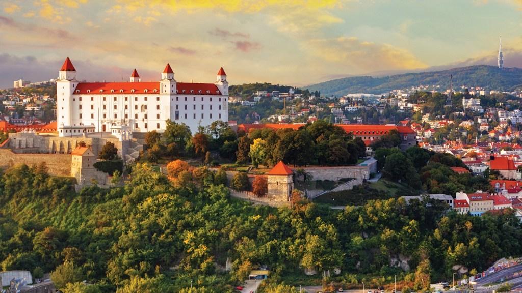 Panoramic view of Bratislavia, Slovakia
