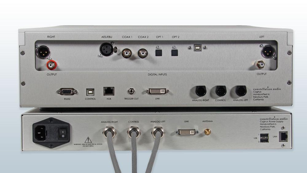 Constellation Audio Cygnus media player/DAC rear