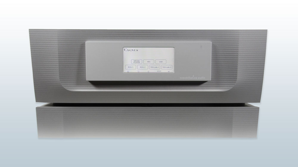 Constellation Audio Cygnus media player/DAC front straight