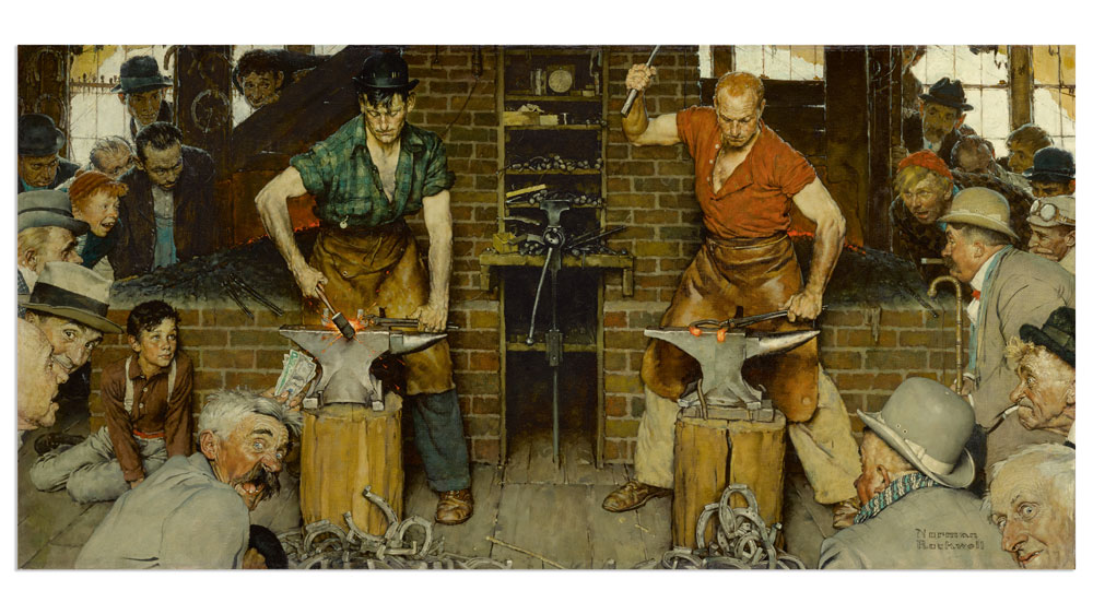 Blacksmith's Boy - Heel and Toe, Norman Rockwell