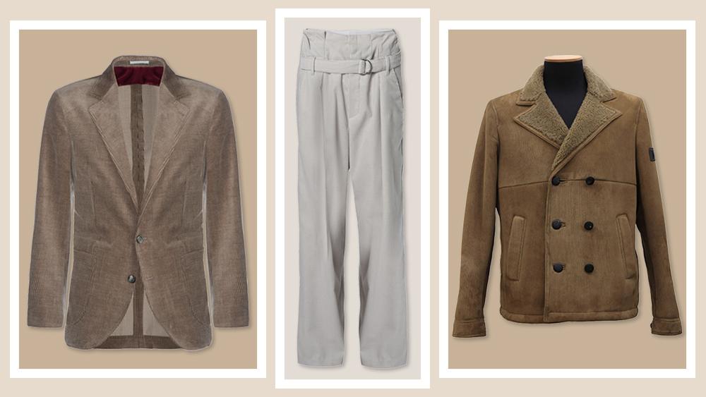 Corduroy pants and jacket