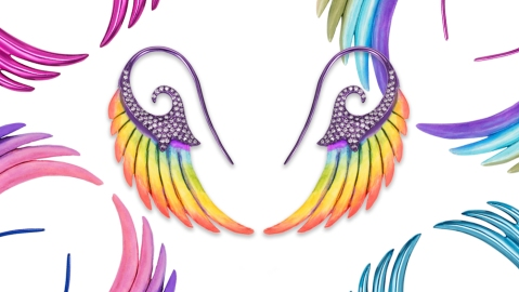 Noor Fares Rainbow Collection Earrings