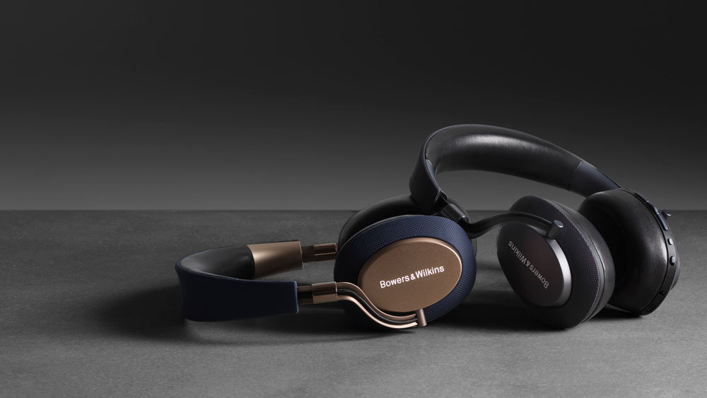 Bowers & Wilkins PX headphones gray and gold