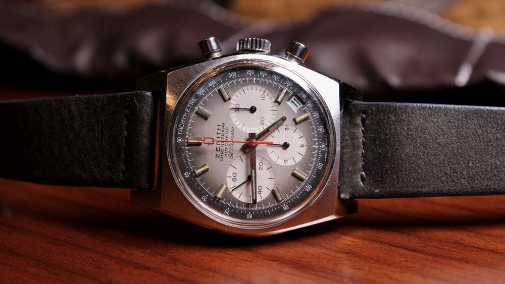 A vintage Zenith El Primero chronograph, reference A385.