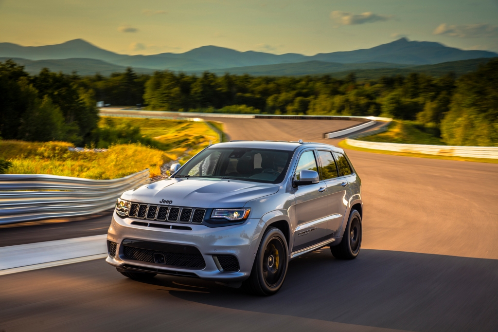 The Jeep Grand Cherokee Trackhawk at New Hampshire's Club Motorsports circuit.