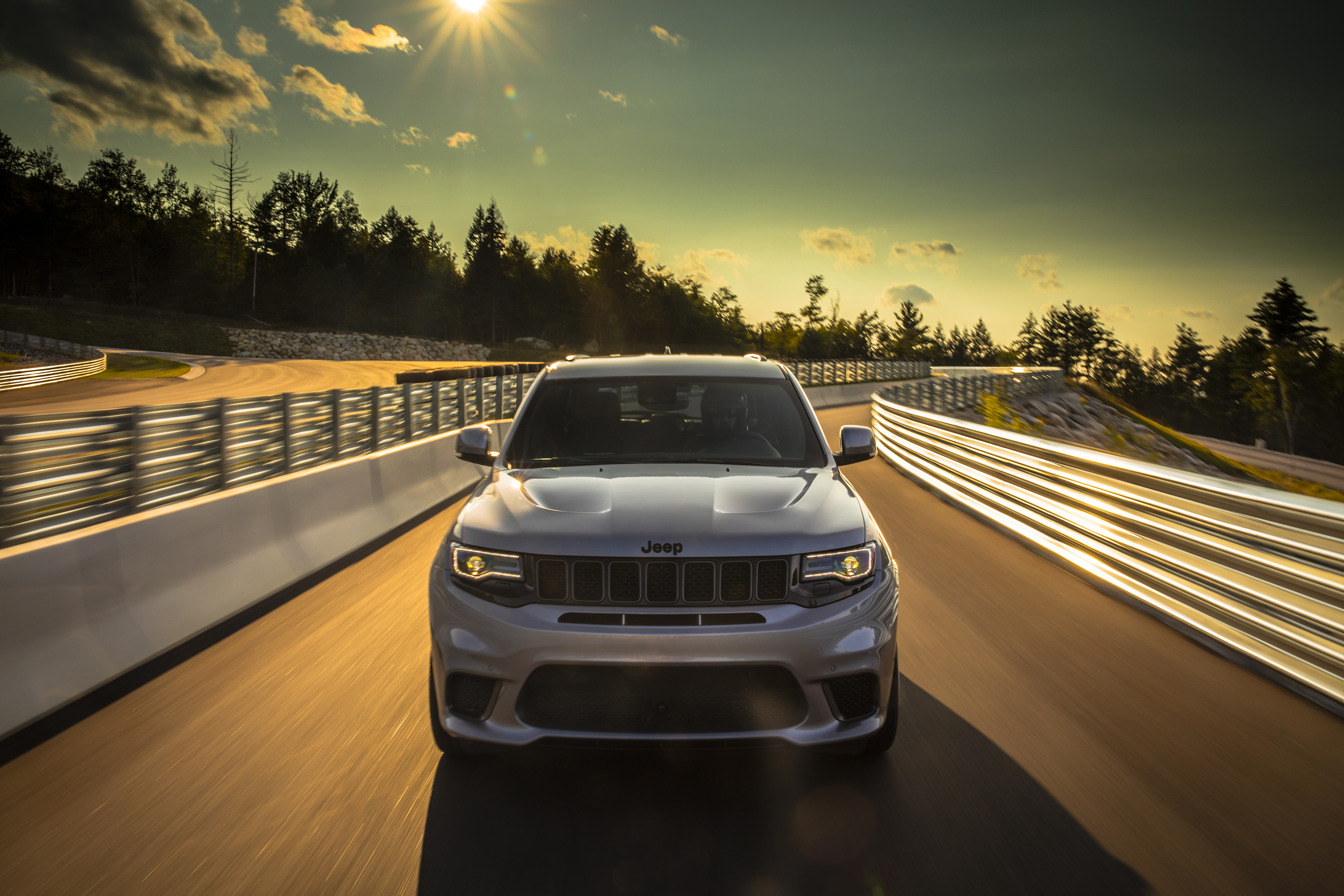 The Trackhawk on Club Motorsports' challenging 2.5-mile-long race circuit in west central New Hampshire.