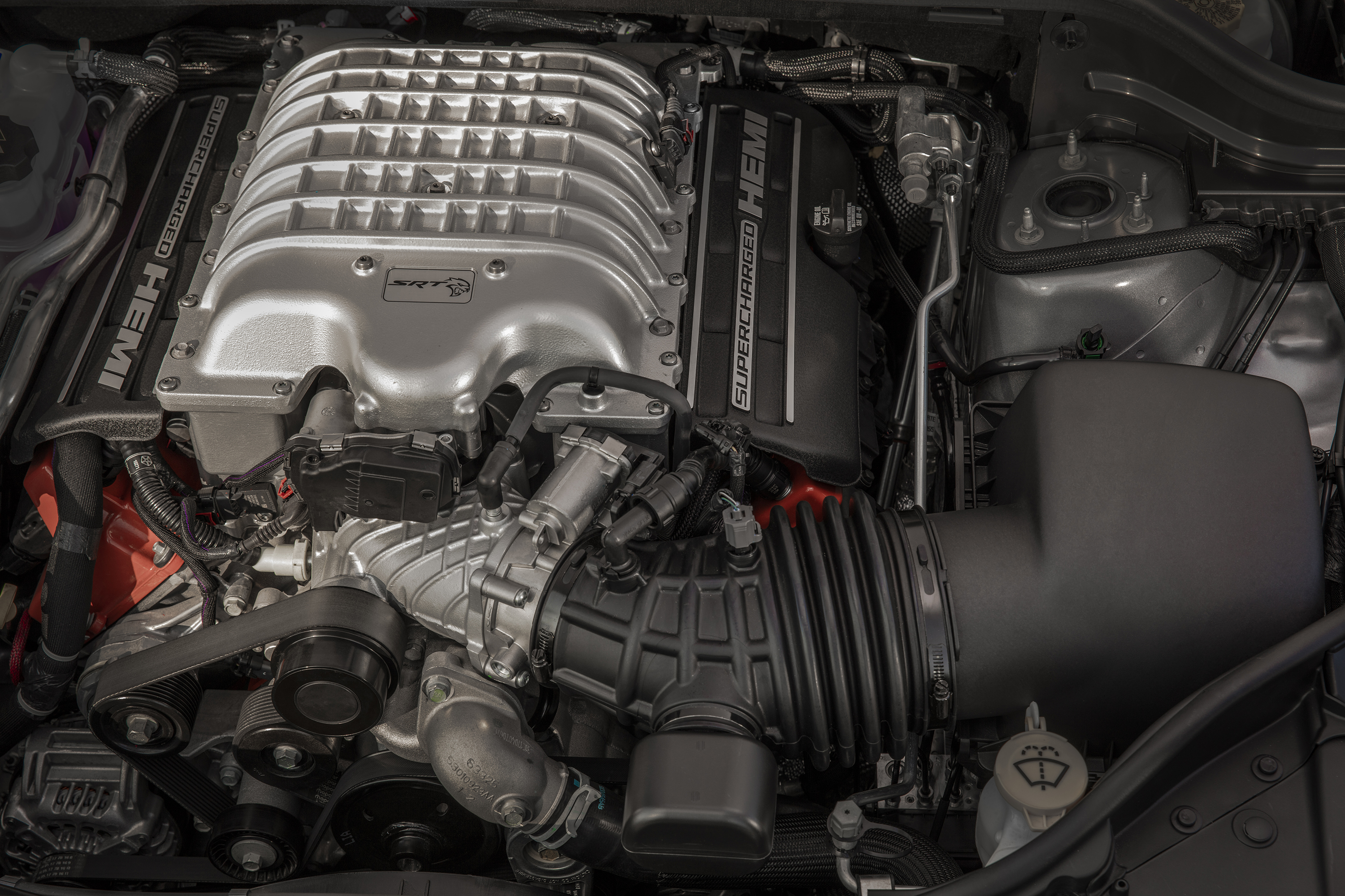 The engine of the Jeep Trackhawk.