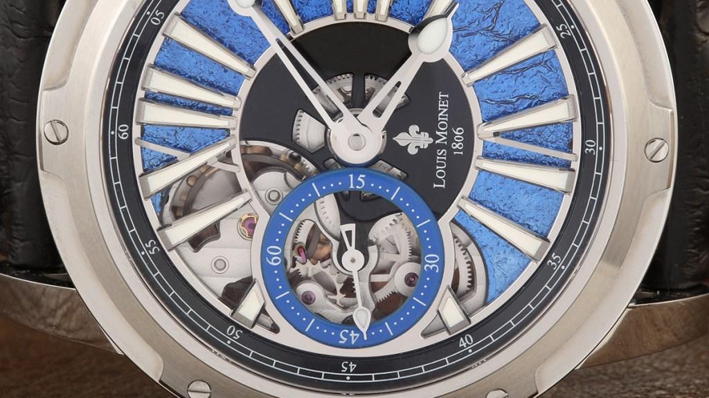 Louis Moinet Metropolis Magic Blue dial detail
