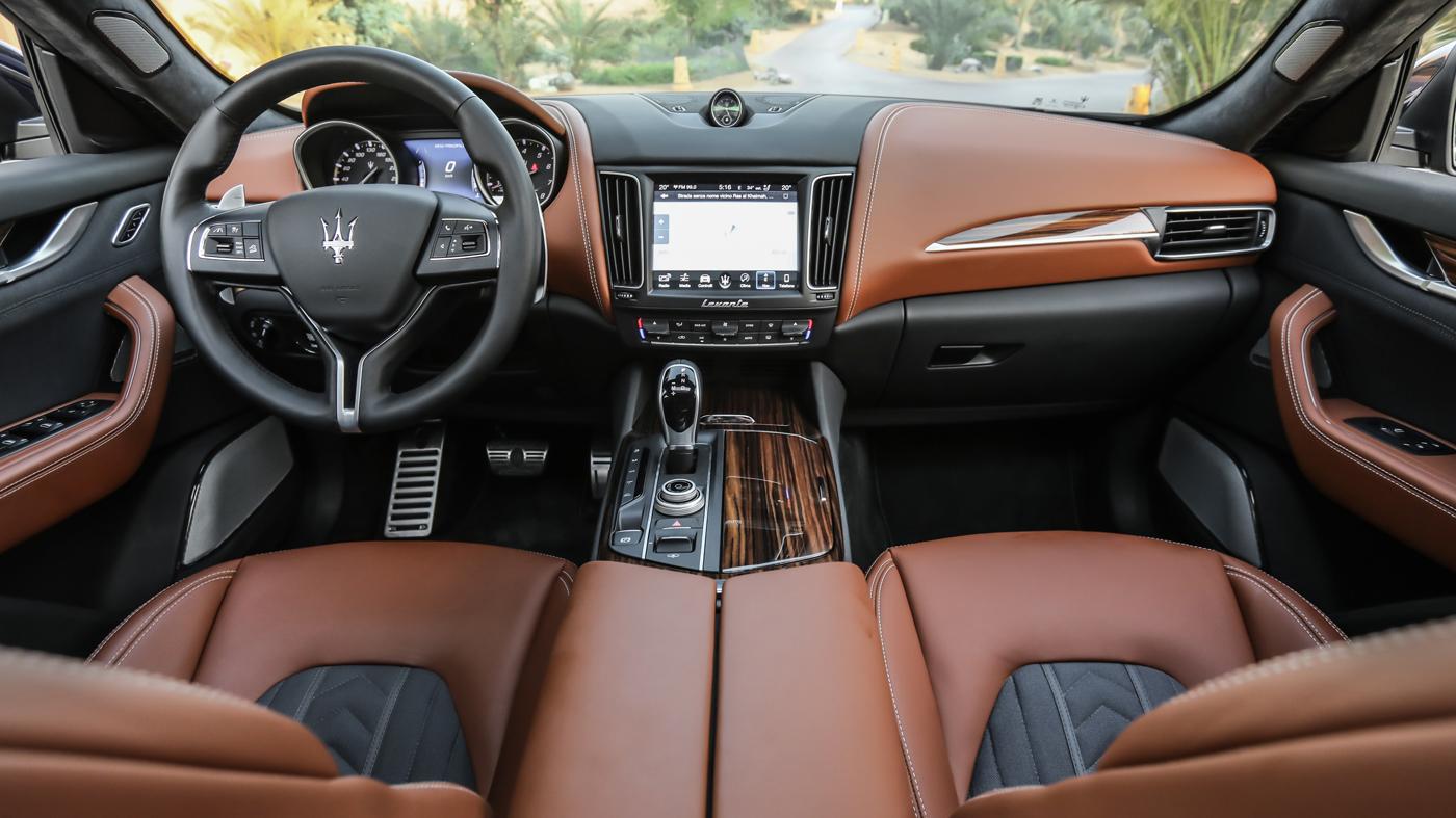 The interior of the 2018 Maserati Levante.