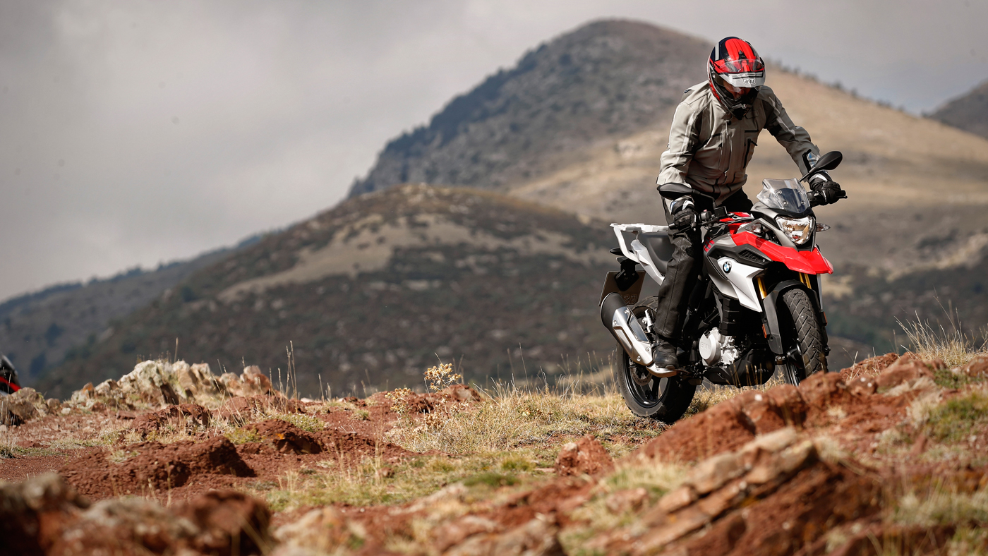 The BMW G 310 GS motorcycle.