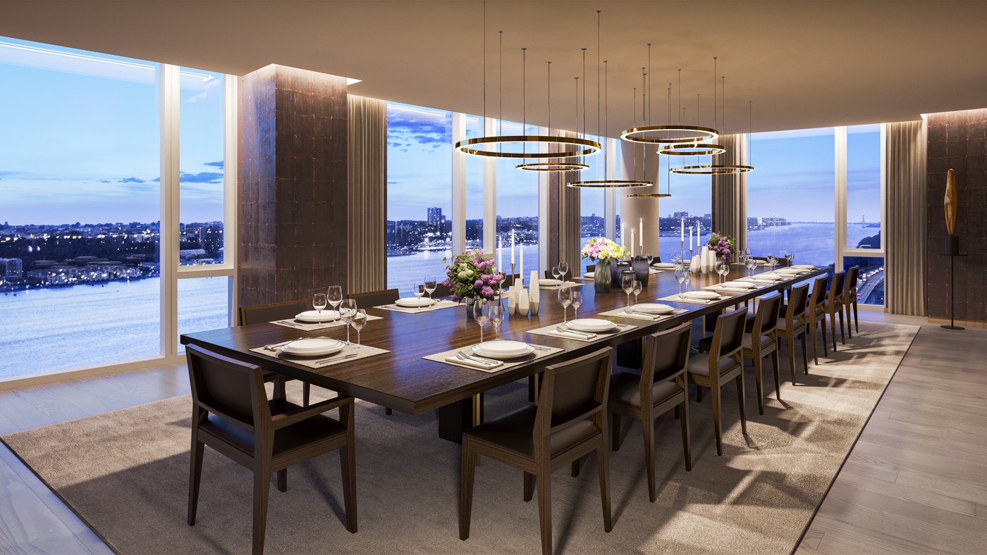 Dining room at One Waterline Square