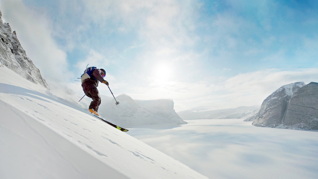Skiing in the Canadian Arctic