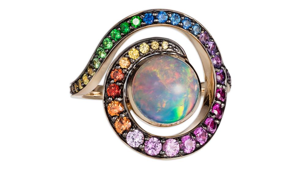 Noor Fares Rainbow Jewelry Ring
