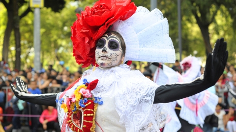 Day of the Dead parade in Mexico City