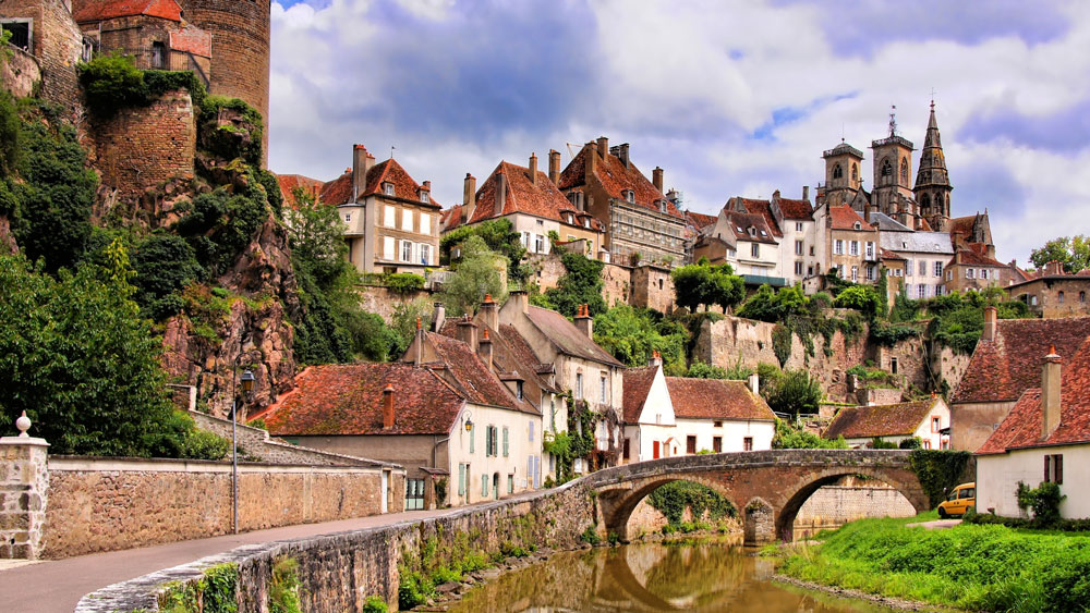 medieval town in France