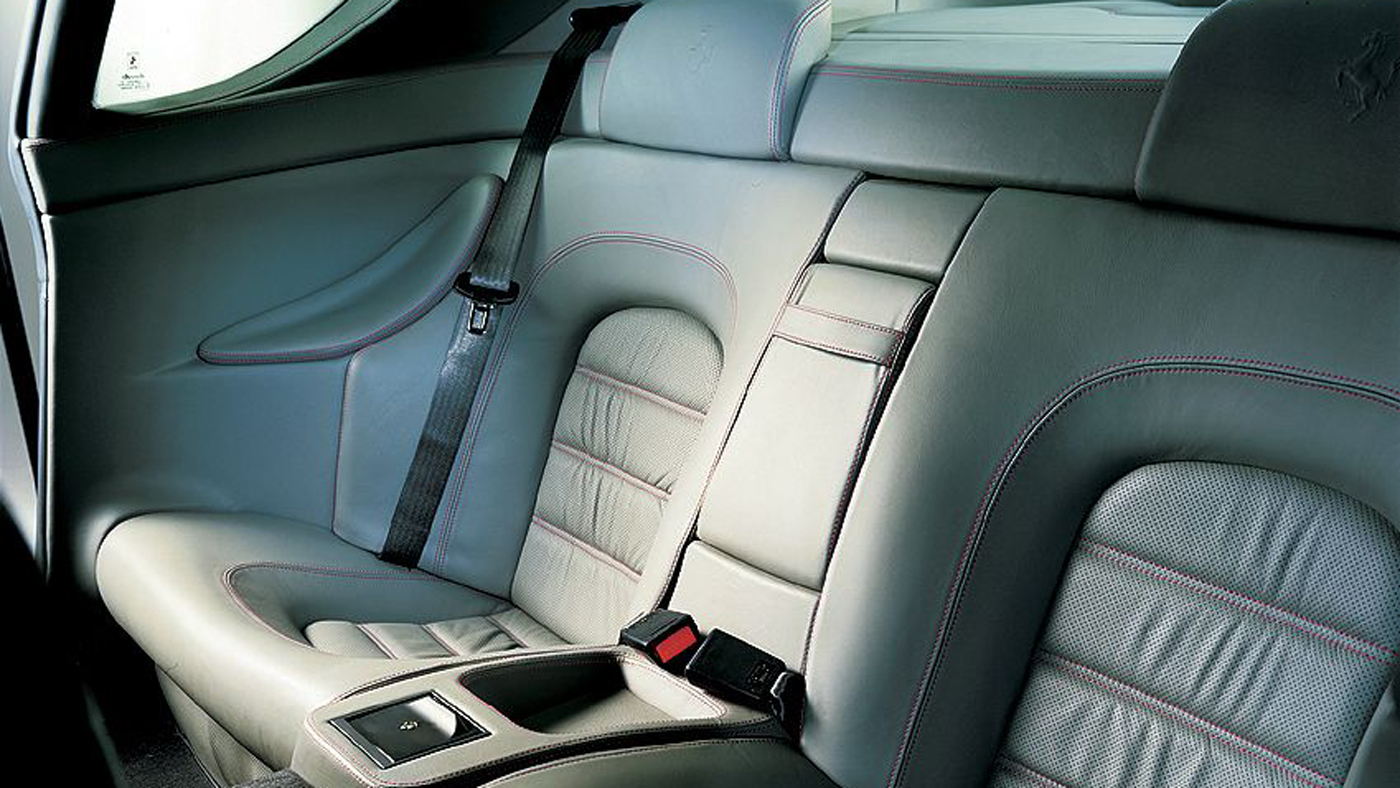 The backseats of the 456 GT demonstrate Ferrari's refined room for four.