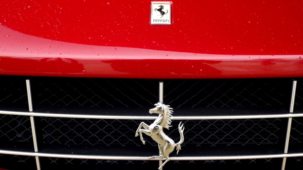 The front grille of a Ferrari FF.