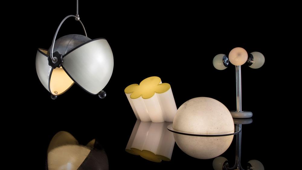 Group of vintage Italian lighting