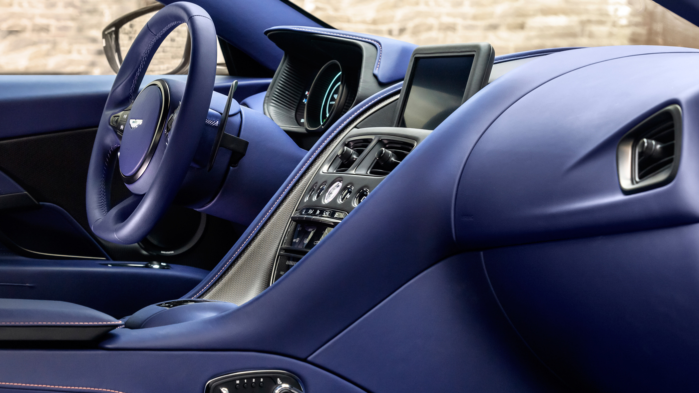 Interior features of the Aston Martin DB11 V8.