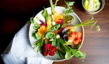 vegetable plate soy dip