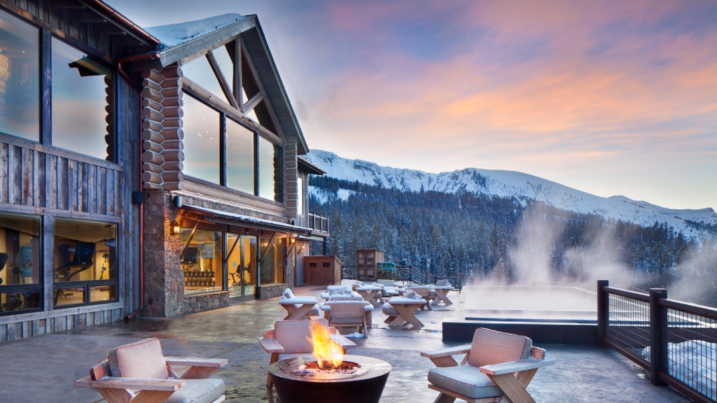 Yellowstone Club during the winter