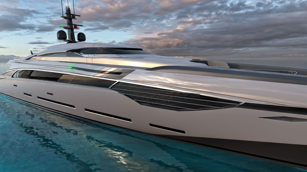 Federico Fiorentino Rossinavi Van Oossanen Naval Architects Fast Displacement XL 500 hull superyacht