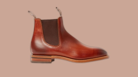R.M. Williams Chinchilla Burnished-Leather Chelsea Boots