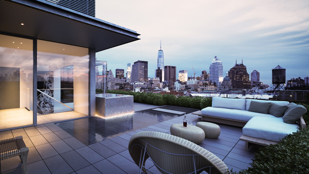 Penthouse at 152 Elizabeth in New York City