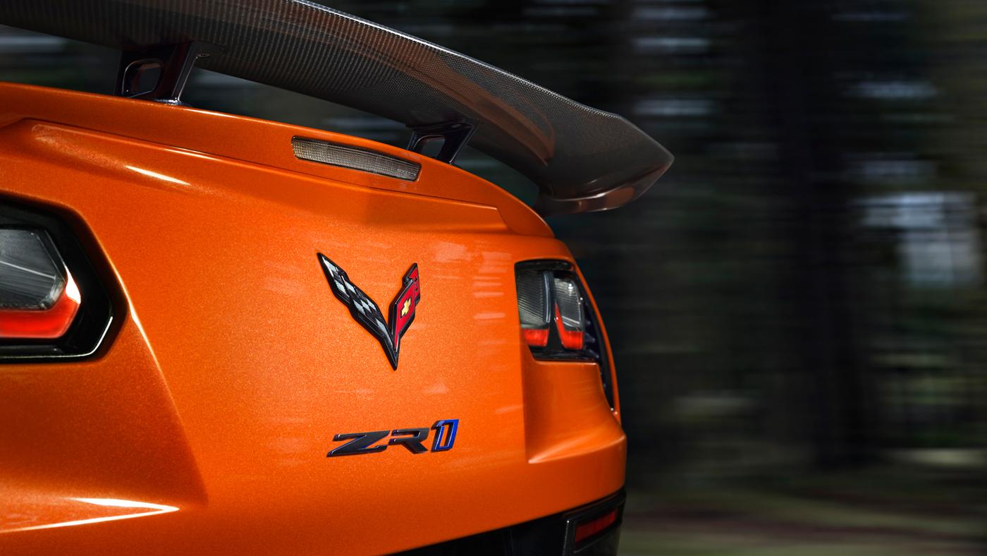 The back of the 2019 Chevrolet Corvette ZR1.