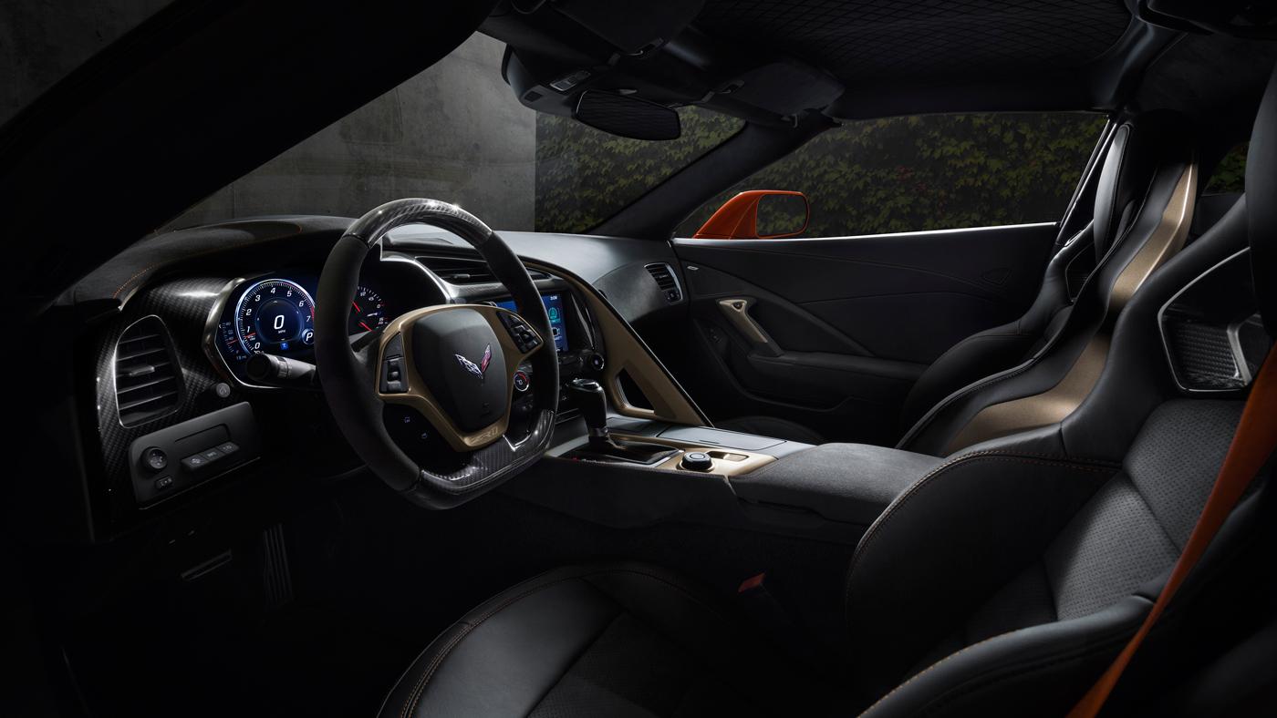 The interior of the 2019 Chevrolet Corvette ZR1.