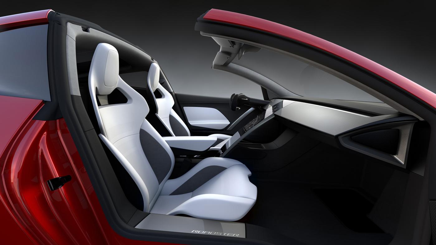 Inside the new Tesla Roadster.