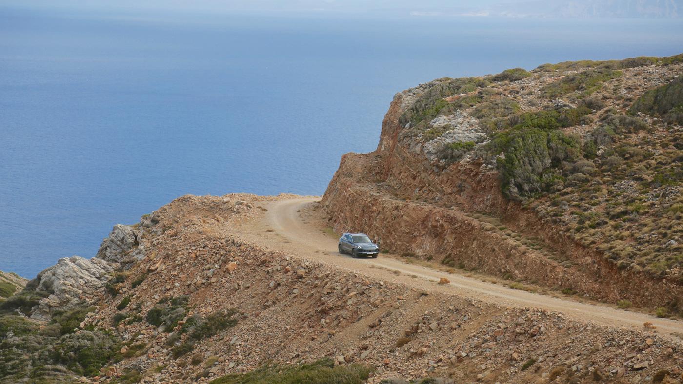 The 2019 Porsche Cayenne in Crete.