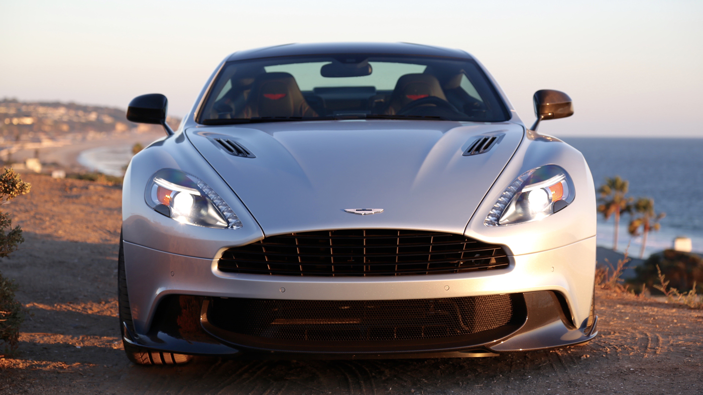 The 2018 Aston Martin Vanquish S Coupe in Malibu.
