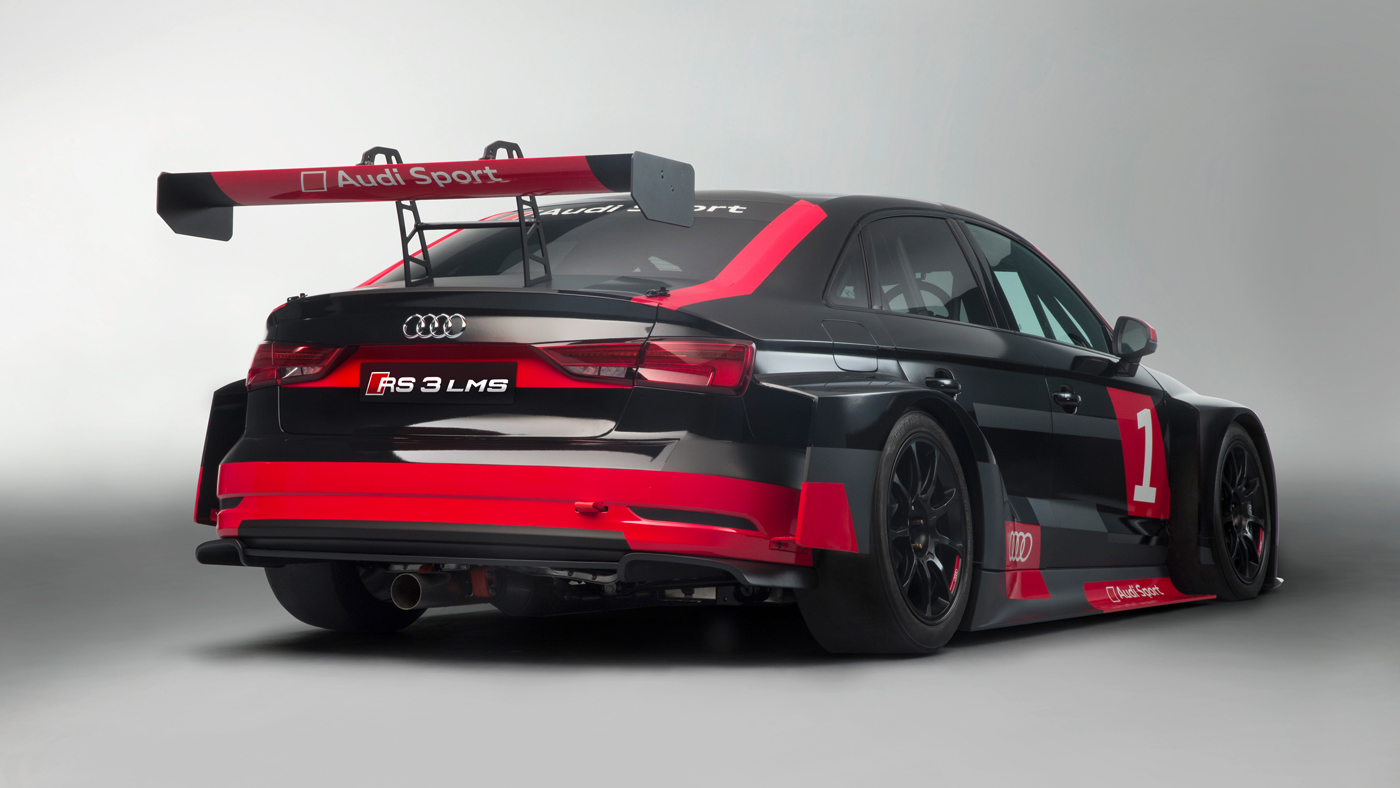The Audi RS 3 LMS racecar.