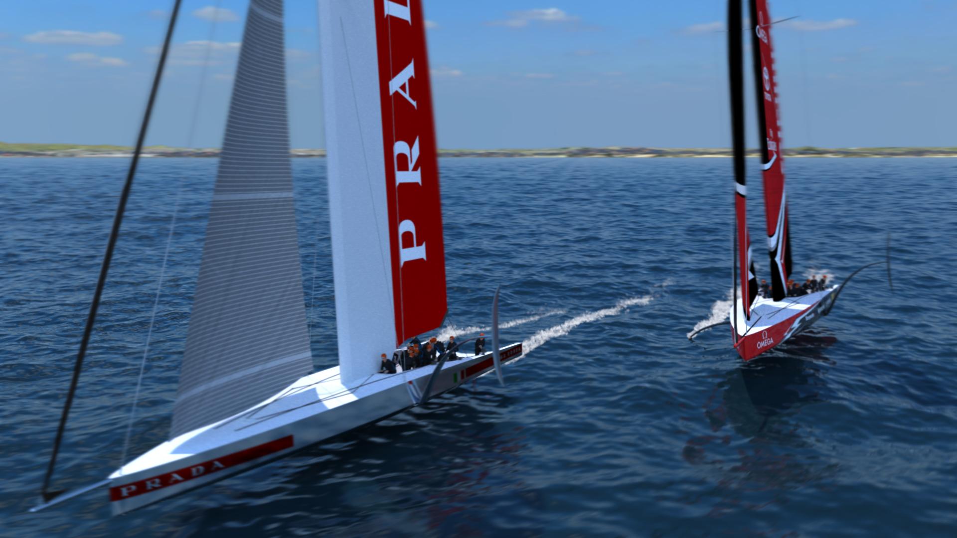 America's Cup AC75 monohull Racing Yacht catamaran