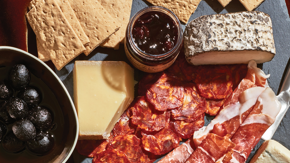 Weekend at Murray's cheese platter