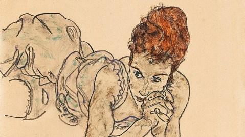 Schiele Liegende Frau (Reclining Woman)