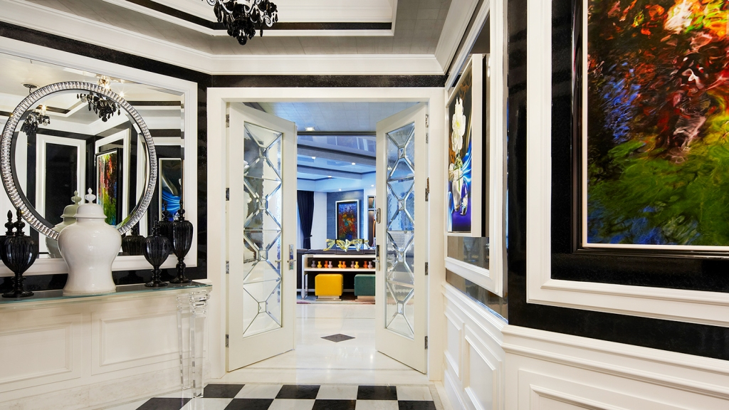 Miami hotel penthouse with art
