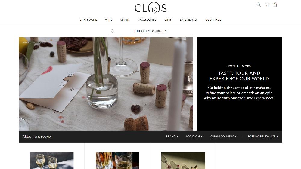Clos19 Experiences