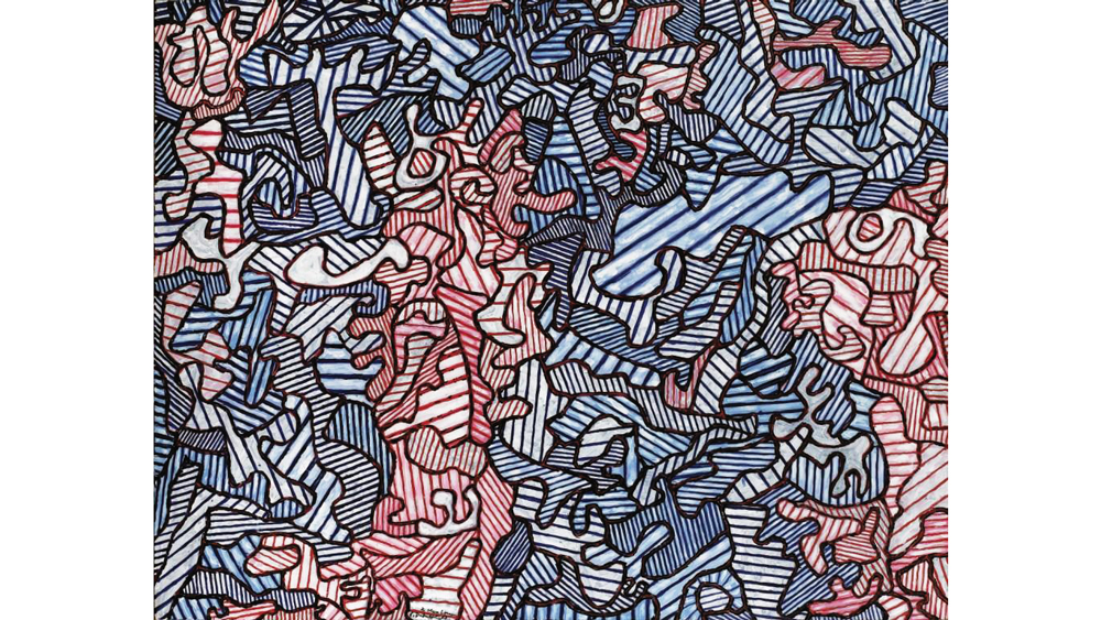 Jean Dubuffet's 1963 oil on canvas,