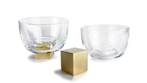 Vanessa Mitrani bronze and glass whiskey tumbler