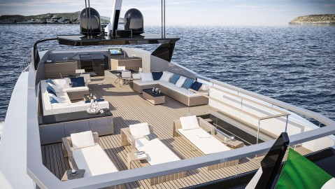 Baglietto 38M superyacht Italian Hot Lab yacht design