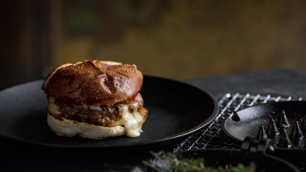 lamb burger cheese