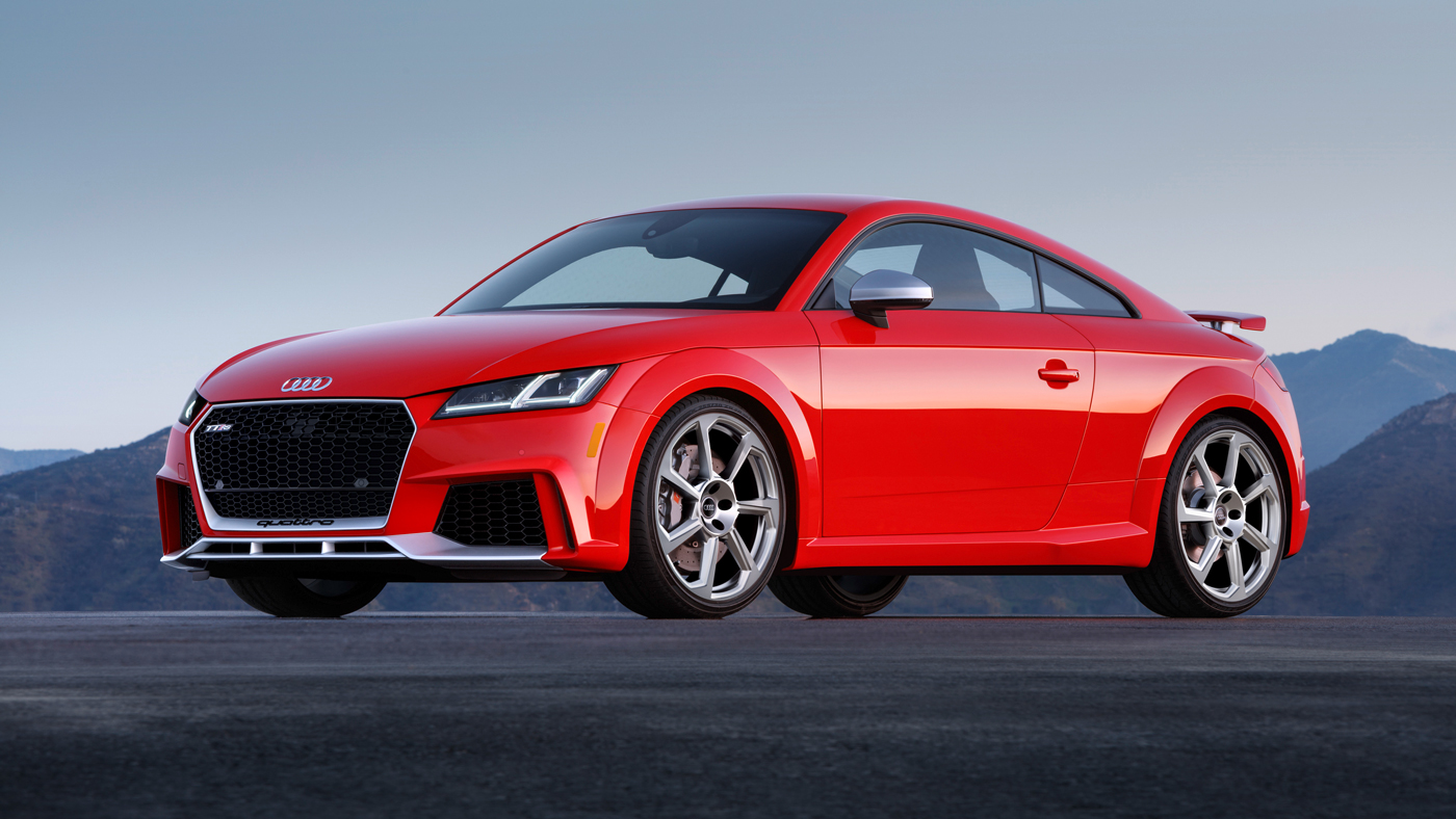 Audi's TT RS coupe.