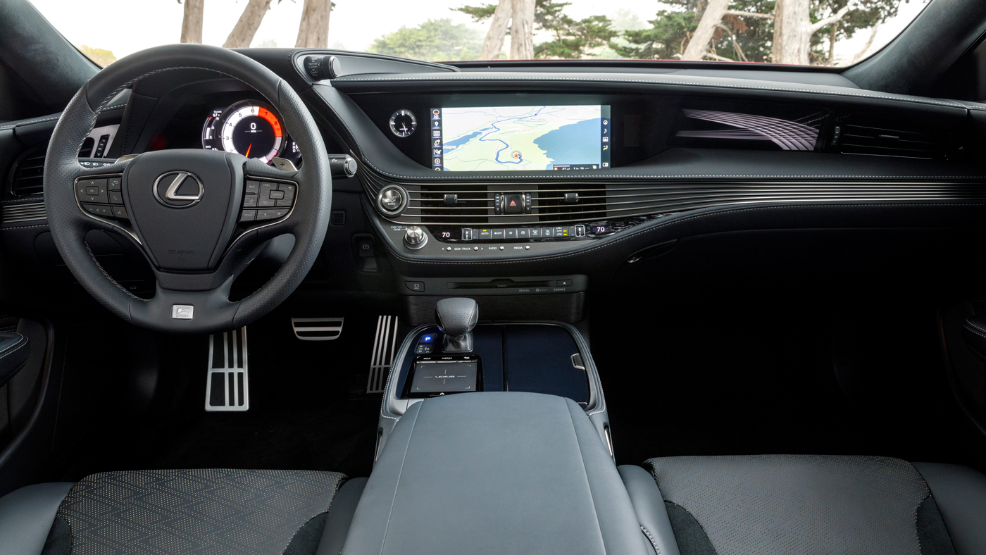 The cabin of the new Lexus LS 500 F Sport